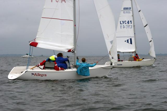 Allegra and Isolde in DownWind Battle